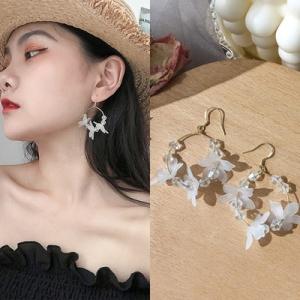 韩国气质约个性百搭仙气大花朵花瓣水晶超仙耳环
