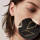 欧美高级感潮气质小众法式大气时尚网红几何菱形耳环