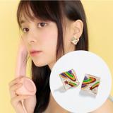 S925银针韩国漫游宇宙搞怪趣味精致可爱少女耳钉