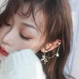 韩国女冷淡风独角兽一体式个性耳朵骨耳夹耳钉