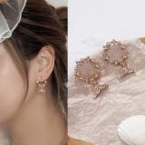 韩国森系少女心高级感气质简约百搭鱼尾耳钉