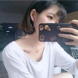 韩国简约INS紫色爱心香芋紫少女心耳钉耳夹