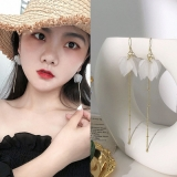 韩国长款气质超仙网红流苏仙女永生花耳环