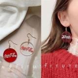 韩国个性网红高级感可乐瓶盖不对称耳环