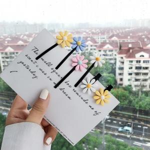 韩国可爱学生ins小雏菊花朵发夹