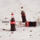 韩国创意手工仿真可乐瓶少女系可爱百搭耳环