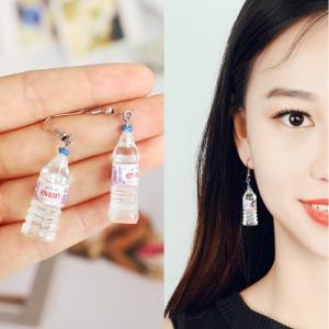 韩国个性趣味微博热搜明星同款矿泉水瓶耳环