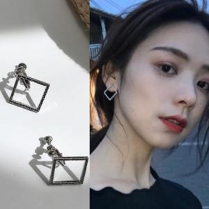 韩国几何休闲个性创意方块百搭耳夹