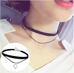 韩国经典绒布皮绳双层方块