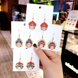 中国风京剧脸谱卡通个性民族风耳环