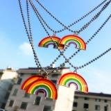 韩国INS风彩虹泫雅同款元气少女心装饰时尚潮可爱项链