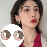 韩国气质圆形亚克力高级感拼色耳钉