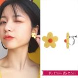韩国唯美恋爱泫雅风清新小花耳夹