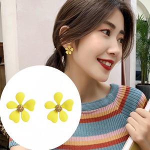 韩国新款潮气质百搭小清新花朵耳钉