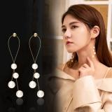 S925银针韩国珍珠流苏高级感气质百搭长款耳钉