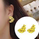 韩国花朵法式复古巴洛克2019网红高级感耳钉