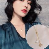 韩国简约高级感轻奢扇形满钻小众名媛风颈链锁骨链