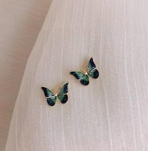 韩国甜美蝴蝶小清新超仙森系小巧耳钉
