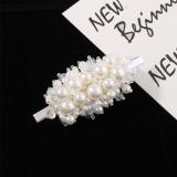 韩国chic甜美少女网红同款珍珠水晶结发夹