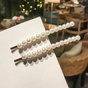 韩国珍珠发夹少女ins网红bb夹两件套