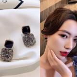 S925银针韩国高级感复古宫廷风小众百搭耳钉