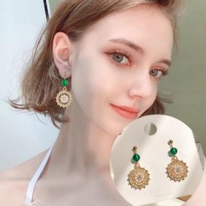 S925银针韩国复古珍珠女气质冷淡风高级感网红耳钉