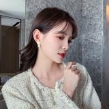S925韩国个性网红不对称星星精致百搭流星高级感满钻耳钉