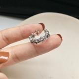 韩国复古做旧六芒星镂空金属编织戒指