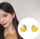 S925银针韩国可爱童趣风卡通小鸭萌系动物耳钉