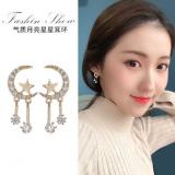 S925银针韩国星星月亮2020年新款少女心气质网红个性耳钉