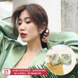 S925银针韩国亚克力方块小清新夏天简约小巧耳钉