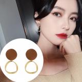 S925银针韩国简约冷淡风复古2020年新款网红气质耳钉