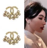 S925银针韩国简约小巧高级感网红气质小香风耳钉