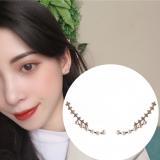 S925银针韩国气质简约闪耀满钻个性珍珠百搭耳钉