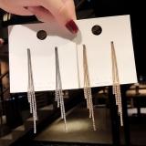 S925银针韩国水钻流苏超仙个性长款百搭网红气质耳钉