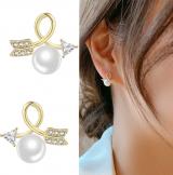 S925银针韩国东大门新潮超仙个性箭头珍珠ins小清新耳钉