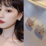 S925银针韩国满钻高级感时尚通勤气质网红百搭耳钉