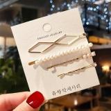 韩国小红书明星同款珍珠4件套发夹ins少女珍珠发卡