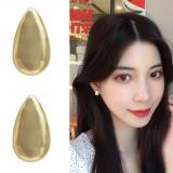 S925银针韩国个性简约金属水滴小众ins冷淡风小巧耳钉耳环女