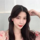 S925银针韩国ins风元气少女撞色花朵清新糖果色可爱耳钉