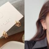 S925银针韩国圆圈新款网红气质小巧简约冷淡风耳钉