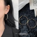 S925银针韩国大耳圈气质夸张简约感网红超仙时尚耳圈