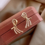 S925银针韩国原创设计师麦穗高级感网红气质时尚新款耳钉耳饰