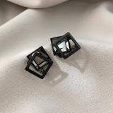 S925银针韩国高级感气质网红水晶几何个性2020年新款潮耳饰耳钉·