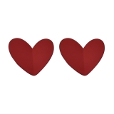 S925银针韩国红色爱心新款简约大气复古网红冷淡风ins耳钉耳饰