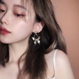S925银针韩国气质复古蝴蝶新款潮高级感气质爆款耳钉耳坠