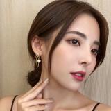S925银针韩国爱心珍珠新款气质网红高级感女流苏耳饰耳钉