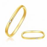 【7号】韩国个性爆款方形素圈锆石情侣钻石小方指环小戒指